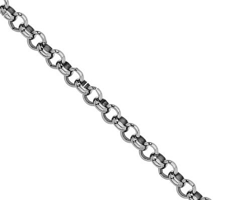 "Stainless Steel 7-1/2"" Rolo Chain Bracelet"