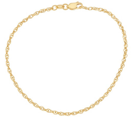 """As Is"" 14K Gold 7-1/2"" Polished Multi- Rolo Link Bracelet"