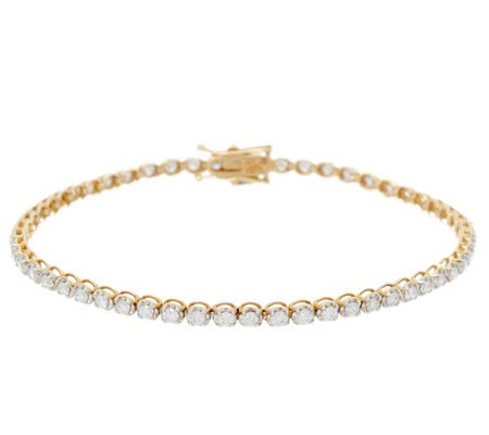 "8"" Diamond Tennis Bracelet 14K Gold, 2.00 cttw, by Affinity"