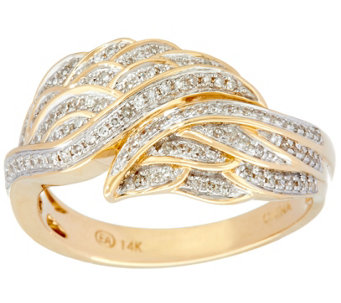 Angel Wing Diamond Ring, 14K, 1/4 cttw, by Affinity - J330173