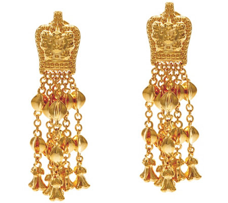 The Elizabeth Taylor Goldtone Ear Pendants
