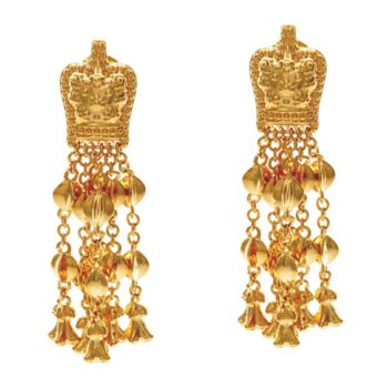 The Elizabeth Taylor Goldtone Ear Pendants