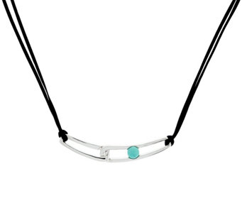 "Franco P Sterling Duality Turquoise 18"" Necklace - J330373"