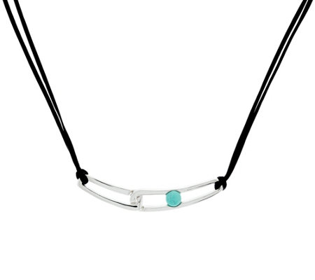 "Franco P Sterling Duality Turquoise 18"" Necklace"