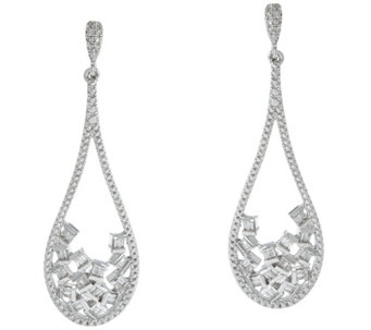 Diamond Drop Earrings, Sterling, 1/3 cttw, by Affinity - J331073
