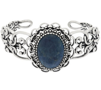 """As Is"" Carolyn Pollack Apatite Sterling Scroll Cuff - J332573"