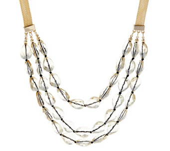 BaubleBar Crystal Beaded Layered Necklace - J332773