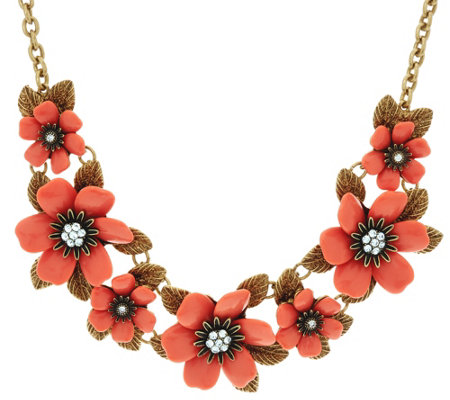 """As Is"" Joan Rivers Mixed Blossoms 18"" Statement Necklace"