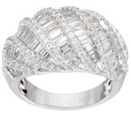 Diamonique 2.00 cttw Baguette Dome Design Ring, Sterling