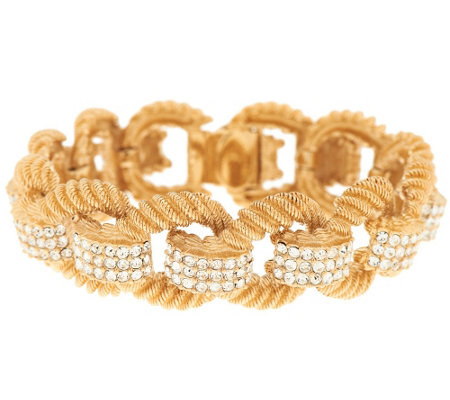 """As Is"" Joan Rivers Ltd. Ed. Classic Elegance Pave' Link Bracelet"