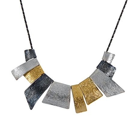Sterling Abstract Statement Necklace by Or Paz