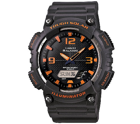 Casio Men's Tough Solar Orange Analog/Digital Sport Watch