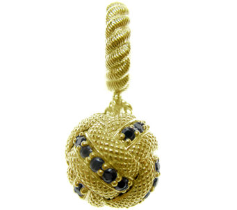 Judith Ripka Sterling 14K Clad Diamonique Ball Dangle Charm - J339073