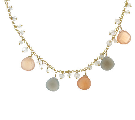 Sterling & 14K Gold-Plated Gemstone Necklace