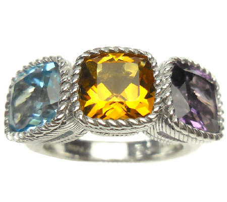 Judith Ripka Sterling 6.00cttw Multi-Gemstone Ring