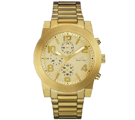 Caravelle New York Men's Goldtone Dress Bracelet Watch