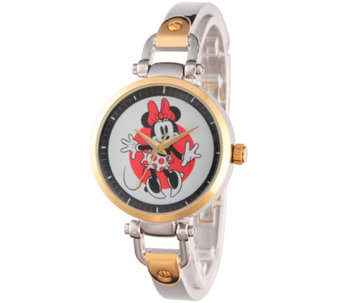 Disney Minnie Mouse Women's Two-Tone Bracelet Watch - J342273
