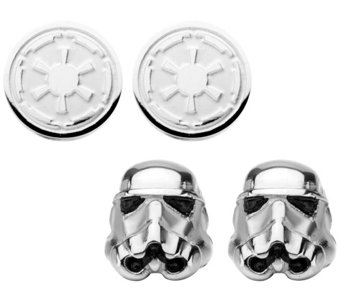 Star Wars Stainless Stormtrooper & Empire Symbol Earring Set - J342473