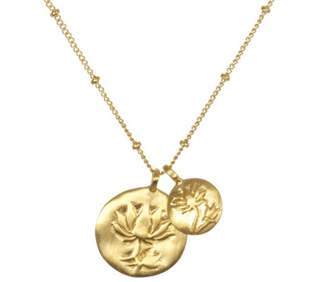 "Satya Double Lotus 18"" Necklace"