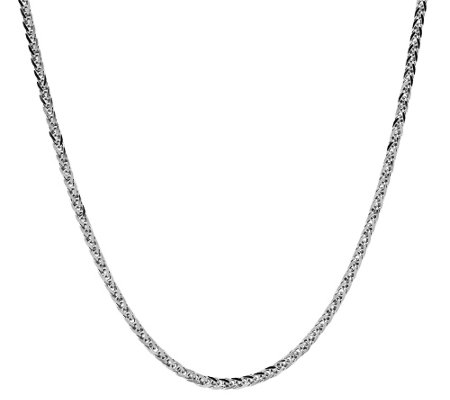 "EternaGold 22"" Adjustable Wheat Necklace, 14K White Gold"