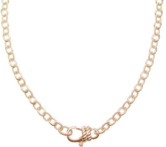 "Judith Ripka Sterling 14K Rose Gold-Clad 24"" Chain Necklace - J345773"