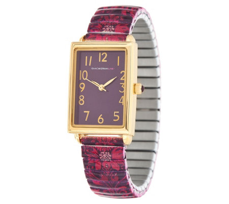Isaac Mizrahi Live! Scroll Damask Print Expansion Watch