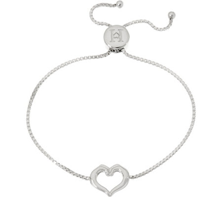 """As Is"" Heart- Full Hands Sterling Silver Adjustable Bracelet"