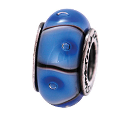 Prerogatives Sterling Blue and Black Glass Bead