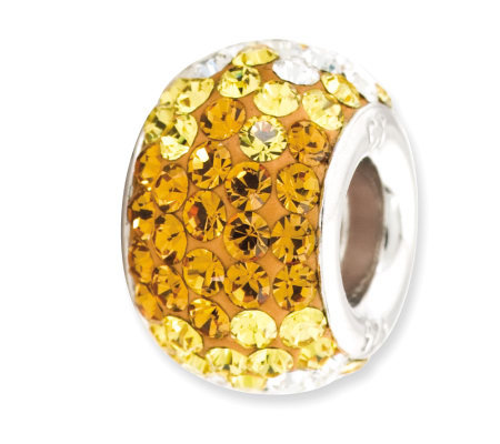 Prerogatives Sterling Golden Yellow Crystal Bead