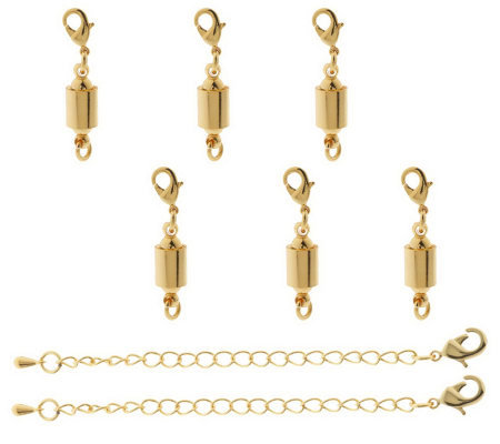 Set of 6 Magna-Twist Magnetic Clasps with Extenders
