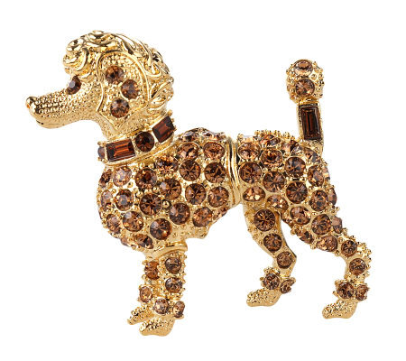 Kenneth Jay Lane's_Pave' Miniature Poodle Pin