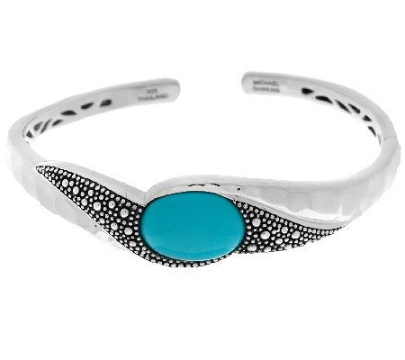 Michael Dawkins Starry Night Sterling Silver Sleeping Beauty Turquoise Cuff