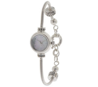 Prerogatives Sterling Bead Bracelet Watch -LongVersion - J298374