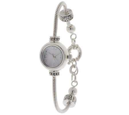 Prerogatives Sterling Bead Bracelet Watch -LongVersion