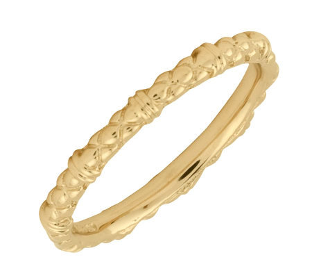 Simply Stacks Sterling 18K Yellow Gold-Plated 2.25mm CableRing