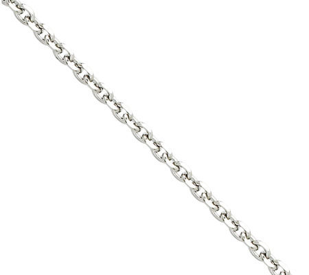 "Stainless Steel 3.4mm 22"" Cable Chain Necklace"