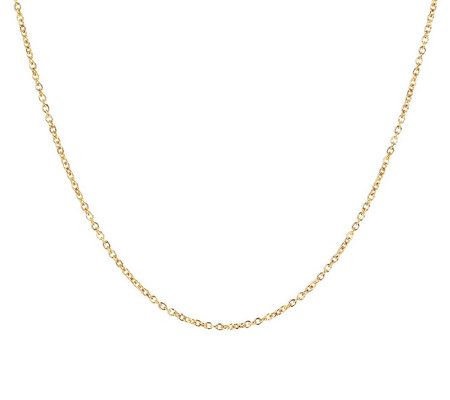"Milor 15"" Fine Polished Oval Rolo Link Chain,14 K Gold"