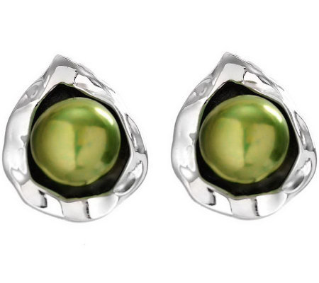 Hagit Gorali Sterling Bloom Cultured FreshwaterPearl Earrings