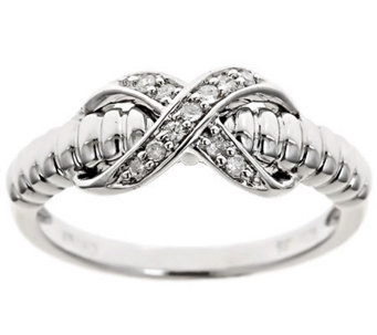 X-Design Diamond Ring, Sterling, 1/10cttwby Affinity - J310174