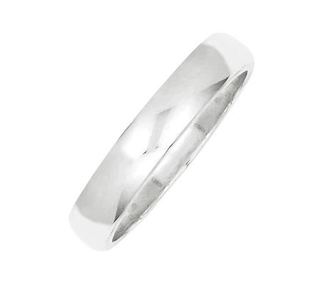 Sterling 4mm Polished Half-Round Ring