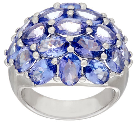 Tanzanite Cluster Design Ring 7.50 ct tw
