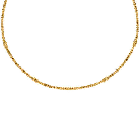 "Judith Ripka Sterling & 14K Clad 20"" Textured Collar Necklace"