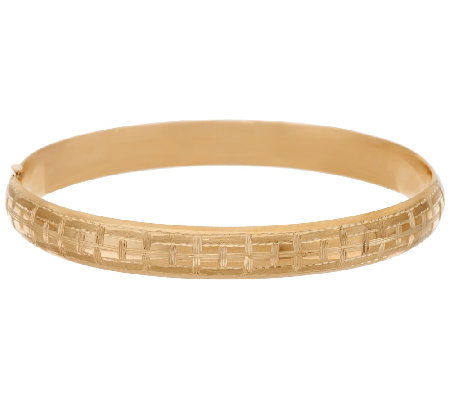 "EternaGold 8-1/4"" Basket Weave Bangle 14K Gold, 8.4g"