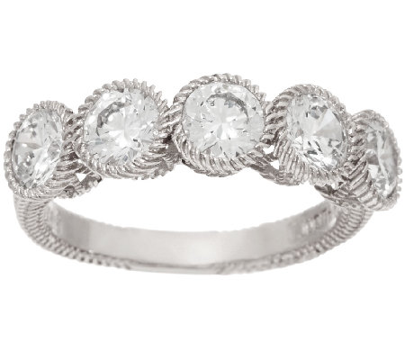 Judith Ripka 2.5 cttw Diamonique 5-Stone Ring