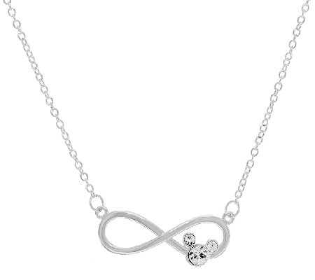 Disney Crystal Mickey Infinity Design Necklace, 18""
