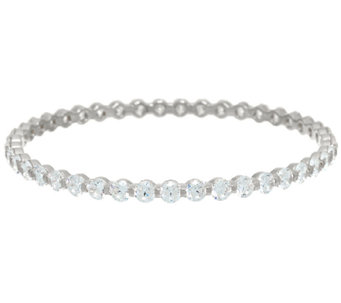 Diamonique 15.05 cttw Average Bangle Sterling or 14K Clad - J326074