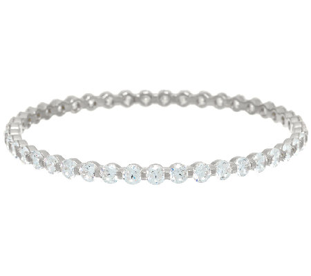 Diamonique 15.05 cttw Average Bangle Sterling or 14K Clad