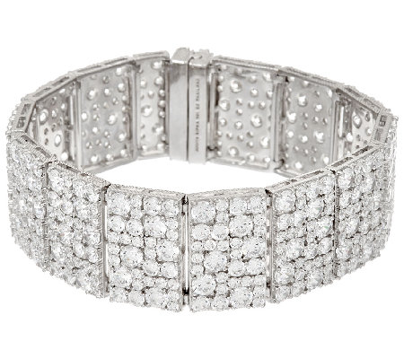 "Judith Ripka Sterling 39.10 cttw Diamonique 7-1/2"" Bracelet"
