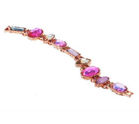 """As Is"" Faceted Multi-Colored Crystal Bracelet"