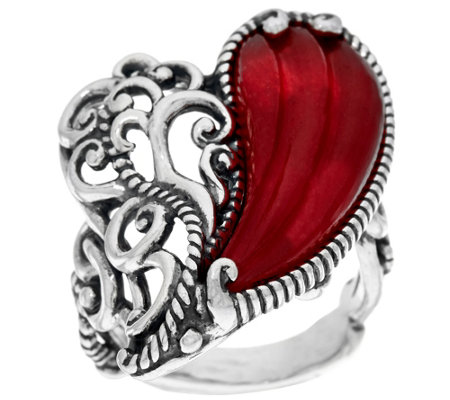 Carolyn Pollack With Love Sterling Carved Heart Ring